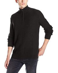 Calvin Klein - Mixed Texture Quarter Zip Sweater - Lyst