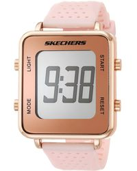 Skechers Naylor Quartz Casual Sports Silicone Nurse Digital Watch - Metallic