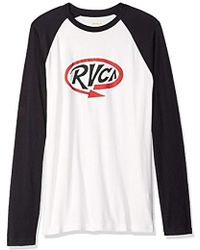 RVCA Looped Long Sleeve Baseball T-shirt - Black