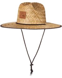 Quiksilver Sun Protection Straw Lifeguard Hat - Natural