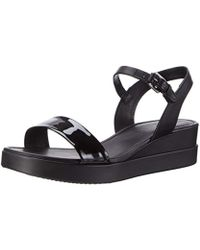 Ecco Touch Plateau Wedge Sandal - Black