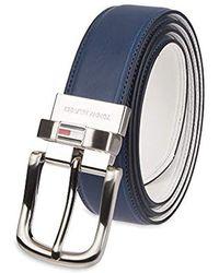 Tommy Hilfiger Reversible Leather Belt - Blue