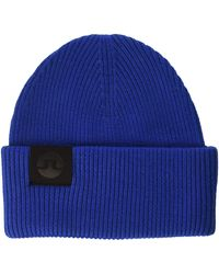 J.Lindeberg Merino Wool Beanie - Blue