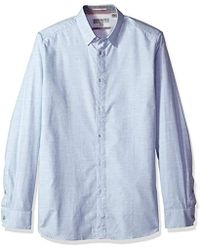 Ted Baker - Annisy Modern Slim Fit Ls Marl Cotton Shirt - Lyst