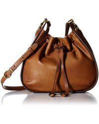 Frye Ilana Small Leather Drawstring Crossbody - Brown