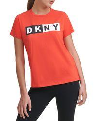 DKNY Split Logo Tee Shirt - Multicolor