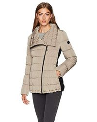 21f635d32390 Calvin Klein - Dramatic Collar Down Coat With Side Stretch Detail - Lyst