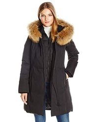 SOIA & KYO - Salma-f6 Classic Down Coat With Racoon Fur Trim Hood - Lyst