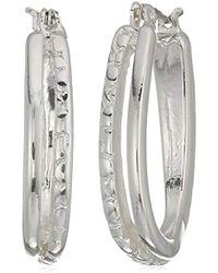 Napier - Silver-tone Clickit Hoop Earrings - Lyst