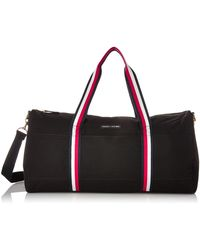 Tommy Hilfiger Unisex Adults Classic Canvas Duffle Bag - Black