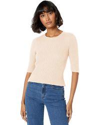 Ella Moss Miranda Puff Short Sleeve Sweater - Natural