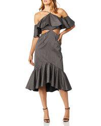 AMUR Agnes Striped Dress - Black