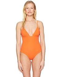 Mara Hoffman Virginia One Piece Swimsuit - Orange