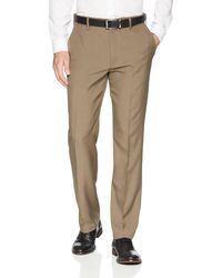 Franklin Tailored Expandable Waist Classic-fit Dress Pants - Brown