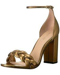 0b32e55a23c Lyst - Rachel Zoe Ashton Block Heel City Sandals in Metallic