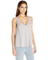 8cac81746d Lyst - Gap Maternity Breathe High Neck Shelf Tank in Gray