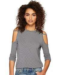 Volcom - Open Arms Long Sleeve Cold Shoulder Top Shirt - Lyst