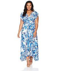 3910382689c Lyst - Eliza J Plus Size Cold Shoulder Maxi Dress in Blue