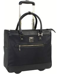 "Kenneth Cole Reaction Runway Call 17"" Laptop Anti-theft Rfid Wheeled Business Carry-on Tote - Black"