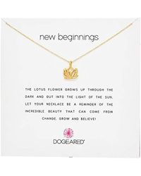 Dogeared - Reminders New Beginnings Rising Lotus Pendant Necklace - Lyst