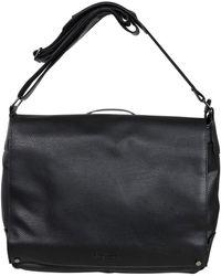 "Kenneth Cole Reaction Pebbled Faux Leather Flapover 15"" Laptop Messenger Bag - Black"