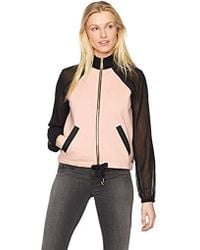 b37189e80 True Religion Embroidered Satin Bomber Jacket in Black - Lyst