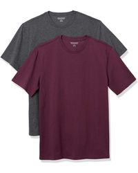 Amazon Essentials 2-pack Slim-fit Crewneck T-shirt - Purple