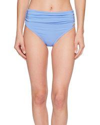Vince Camuto Convertible High Waist Bikini Bottom Swimsuit - Blue
