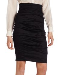 Nicole Miller Sandy Cotton Metal Skirt - Black