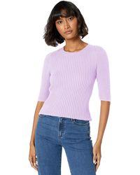 Ella Moss Miranda Puff Short Sleeve Sweater - Purple