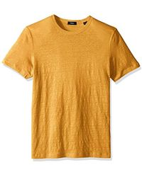 Theory Storm Linen Essential Tee - Yellow