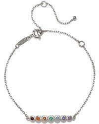 Satya Jewelry - Multi Gemstone Silver Chakra Bracelet, One Size - Lyst