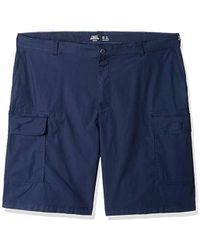 "Izod Big And Tall Saltwater 10.5"" Cargo Short - Blue"