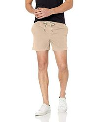 Goodthreads Mens 9 Inch Inseam Pull-On Stretch Canvas Short