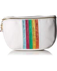 Betsey Johnson Between The Lines Belt Bag - White