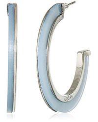 Guess - S Lucite C Hoop Earrings - Lyst