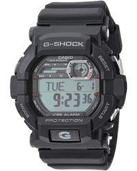 G-Shock Gshock Stainless Steel Quartz Watch With Resin Strap - Black