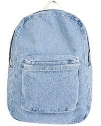 American Apparel Cotton Canvas School Bag - Blue