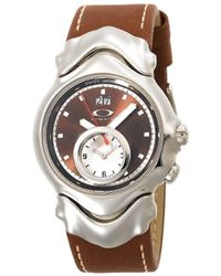 04c7bb26449 Oakley - 10-267 Judge Ii Dual-time Leather Strap Edition Brown Dial Watch