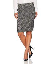 Kasper - Petite Woven Jacquard Slim Skirt - Lyst