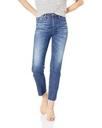 AG Jeans Isabelle Straight Crop - Blue