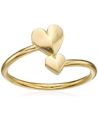 ALEX AND ANI - Valentine's Day Collection Romance Heart Wrap Sterling Ring, Size 5-7 - Lyst