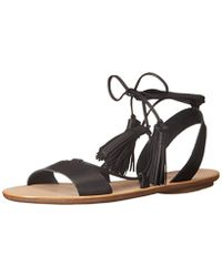 Loeffler Randall Saffron-vacn Flat Sandal - Black