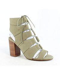 96b4d8a6f1bb Lyst - Splendid Banden Lace-up Heel Sandal in Natural