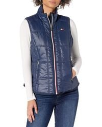 Tommy Hilfiger Womens Outerwear Vest - Blue