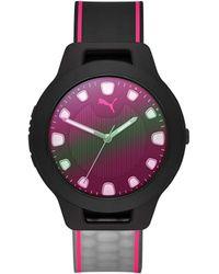 PUMA Analog Quartz Watch With Rubber Strap P1026 - Multicolour