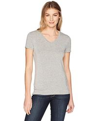 Lark & Ro - Short Sleeve Soft V-neck T-shirt - Lyst