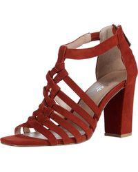 Charles David High Heel Sandal Pump - Red
