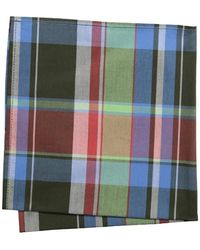 Jack Spade Fowler Plaid Pocket Square - Red