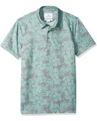 28 Palms - Standard-fit Performance Cotton Tropical Print Pique Golf Polo - Lyst
